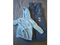 Dressing gown and robot sleep bag (6-18 months)