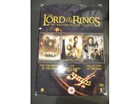 Lord of the Rings DVD Box set. The Fellowship of the Ring,The Two Towers,The Return of the King