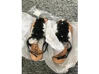 Ladies sandals size 4 black