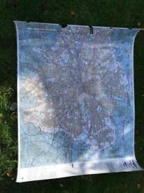 Laminated London Map 160cm x 110cm.