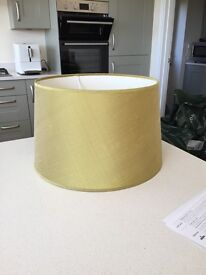 Large lime green lampshade for table lamp