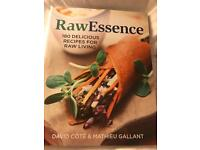 Raw essence recipe book hardly used bought for £16.95