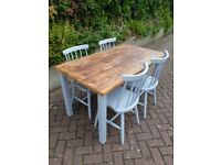 Brilliant Solid Wood Painted Chairs and Tables, Various Colours. Excellent Quality Guaranteed