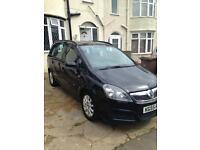 Vauxhall Zafira 1.6L 7 seater Black