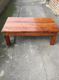 Chunky oak coffee table