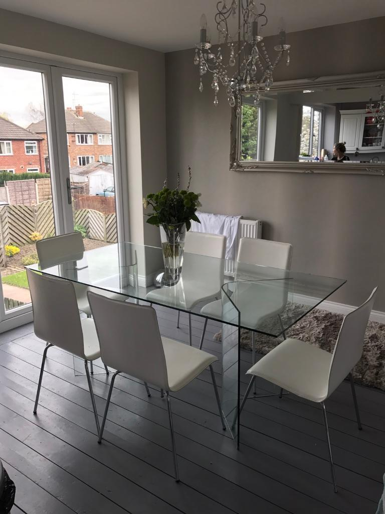 John Lewis Glass Dining Table And 6 Chairs