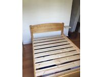 Warren Evans Mozart double bed with Silentnight Comfort Miracoil mattress only 1year old