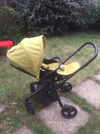 Mamas and Papas travel system. Travel cot, car seat, stroller all in one.