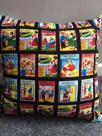NEW old postcard humour fabric cushion!