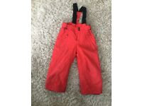 Salopettes - child age 4 years - RED