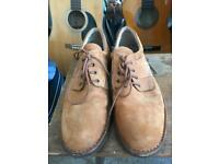 Tan leather shoes - only worn once - size 11.5