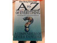 Book A to Z of everything good for quiz and stuff