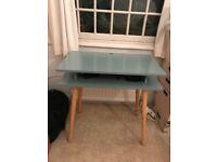 Contemporary Desk - Sage Green & Oak