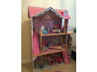 Large wooden dolls house for sale