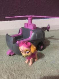Paw patrol Skye with helicopter spinmaster