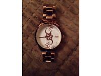 STORM Crystelli Rose Gold Watch. WORN ONCE! LIKE NEW
