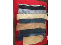 8 pairs of men's bottoms size 34 waist
