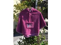 JoJo Maman Bebe Towelling Poncho – pink: Girls age 0-2 years