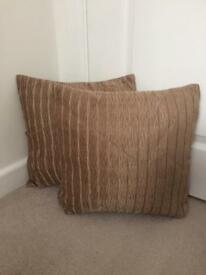 Set of 2 Next Gold Cushions