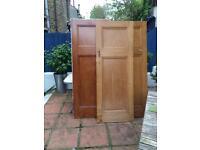 3 vintage deco 1920's? 1930's? 1 over 1 panel doors
