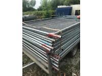 20 heras fencing panels site fencing, herras Harris palisade gates