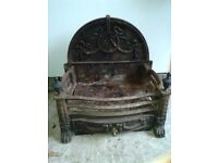 Cast iron free standing fire grate