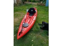 Pair of Kayaks Tootega Kinetic 100 with paddle and comfort seat