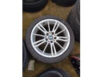 Bmw Mv3 Genuine Alloy Wheel Front 8j with RUN FLAT TYRE SINGLE WHEEL CAN POST (1 wheel)
