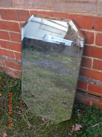 Vintage bevel edge mirror