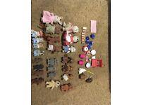 Sylvanian Families bundle (canal boat, nursery, ice cream kart and many figures)