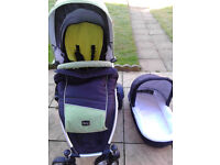 Britax Dual Combi Double Pushchair with Carrycot