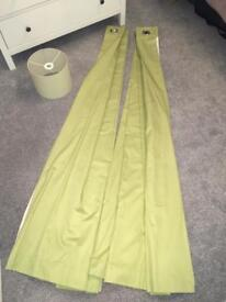 Green blackout curtains (from Next) and light shade