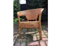 Cane and wicker chair
