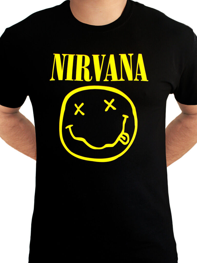 Nirvana Smiley Logo Mens T-Shirt