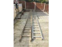 A pair of aluminium ladders