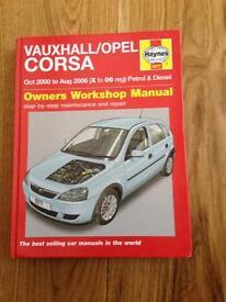 Haynes manual for Vauxhall CORSA 200-2006