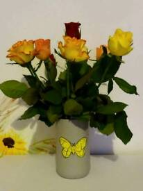 Flower vase/ lantern made out of bottle + free LED candle