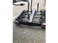 4 bike rack cycle carrier towbar mounted