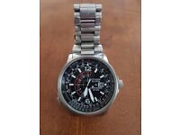 CITIZEN ECO DRIVE NIGHTHAWK stainless steel man's watch