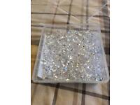 Box of scatter crystals for wedding table centre pieces