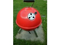 Red Kettle Barbecue Portable Camping BBQ Charcoal Grill