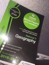 Hodder Gibson SQA endorsed National 5 Geography Past Paper book.