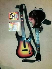PS3 Guitar Hero guitars and games