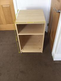 Ikea cabinet 1 shelf, freestanding unit.