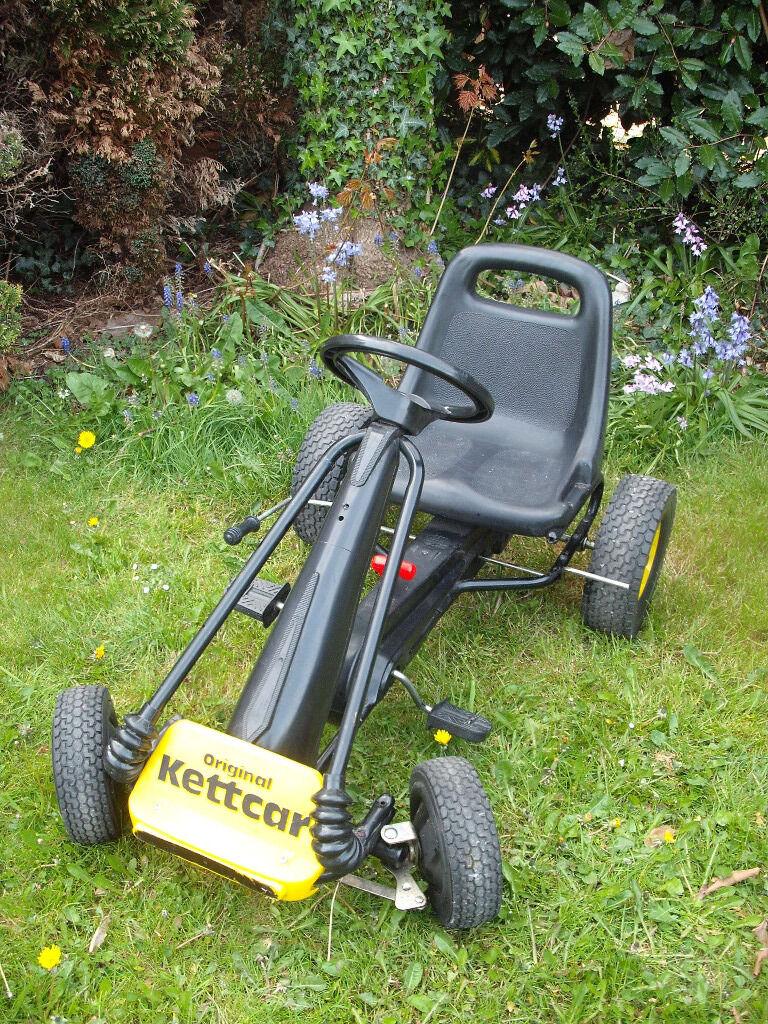 original vintage kettler kettcar go kart pedal car black. Black Bedroom Furniture Sets. Home Design Ideas