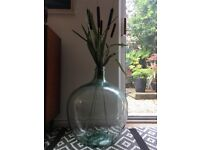 Vintage Retro Large Green Glass Demijohn/ Carboy