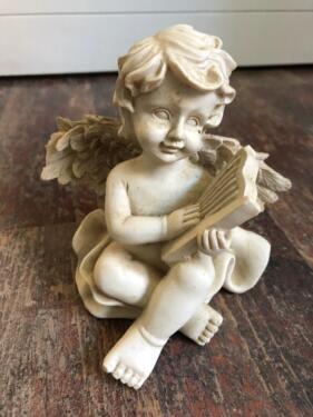Engel Engelfigur Nostalgisch Vintage Weihnachtsdeko Skulptur In