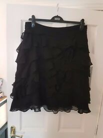 Black Ruffled Monsoon Skirt