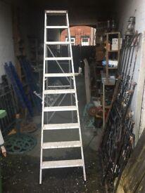 Youngman Aluminium 10 Tread Step Ladders / Builders Ladders WR