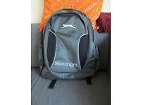 Slazenger Grey Large Backpack Two Compartments Plenty Pockets